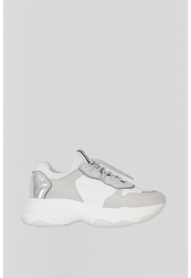 Pantofi sport cu insertii de piele si piele intoarsa Baisley