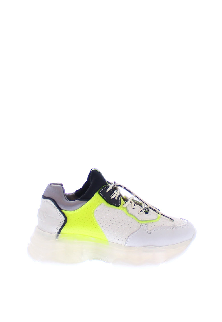 Pantofi sport slip-on cu aspect masiv si garnituri de piele nabuc Baisley