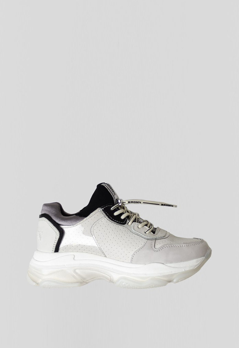 Pantofi sport de piele intoarsa si piele ecologica Baisley