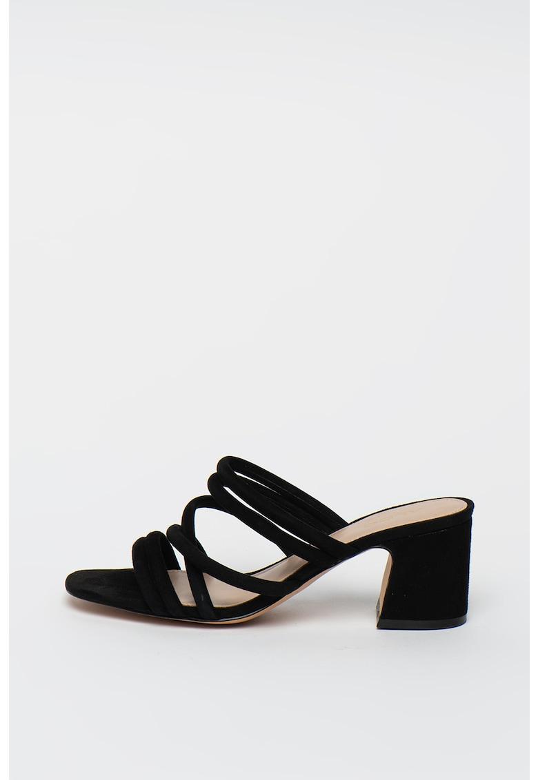 Papuci cu toc - de piele intoarsa Atlanta