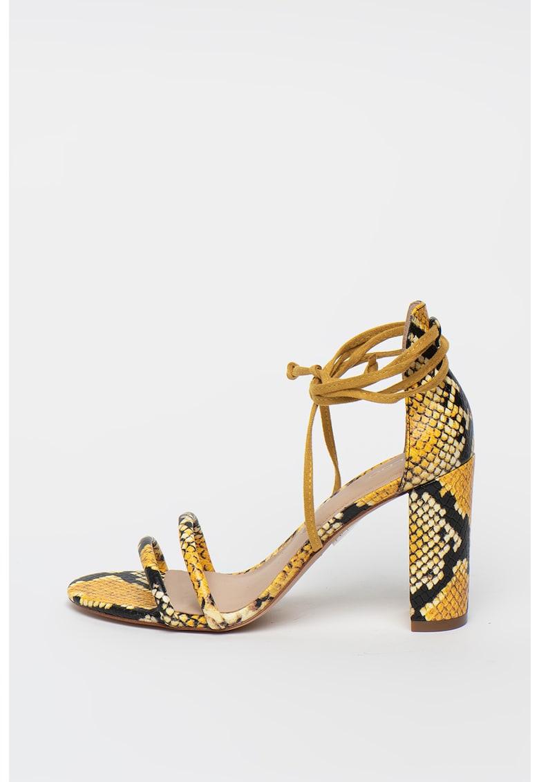 Sandale cu aspect de piele de sarpe Nyderia imagine fashiondays.ro Aldo
