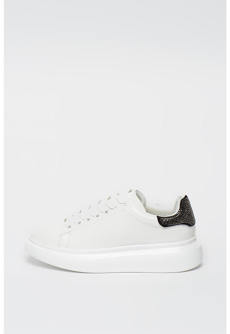 Pantofi sport de piele ecologica - cu garnituri cu strasuri Dazzle