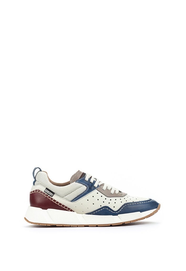 Pantofi sport din piele cu model colorblock Meliana