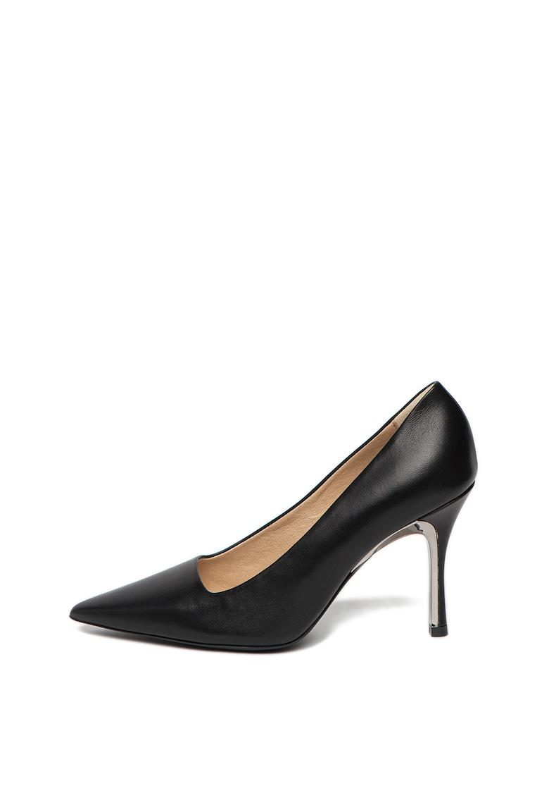 Pantofi stiletto din piele - cu varf ascutit imagine