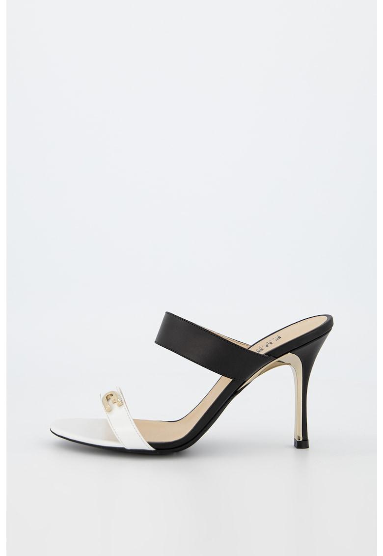 Sandale de piele cu logo metalic imagine