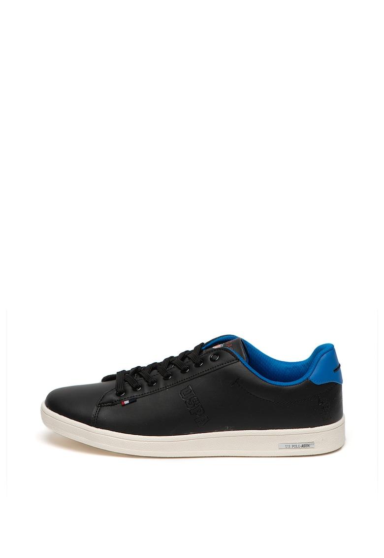 Pantofi sport de piele si piele ecologica - cu logo metalic Chaymon 3