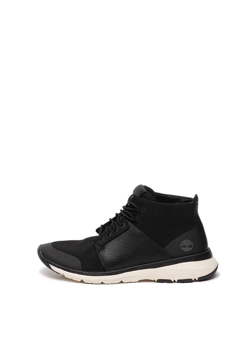 Pantofi sport cu garnituri de piele si plasa Altimeter imagine