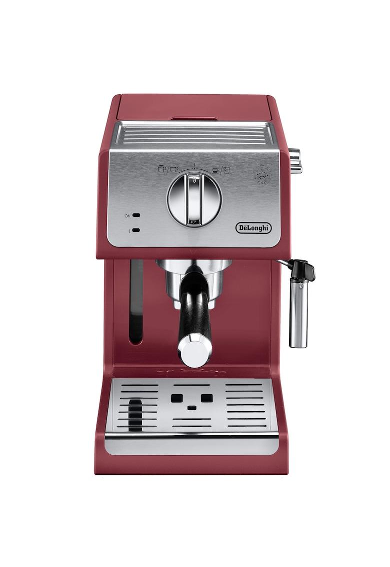 Espressor manual Active line ECP33.21.R - 1100 W - 1.1 L - 15 bar - Sistem Cappuccino - Rosu