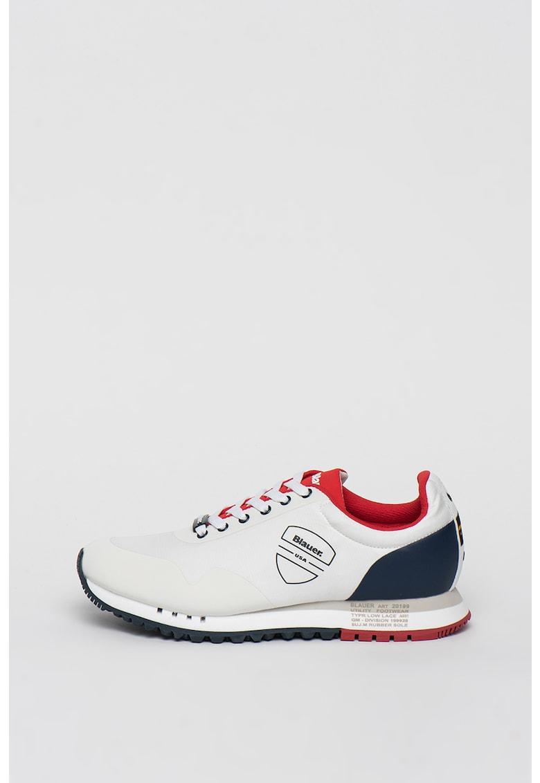 Pantofi sport cu model colorblock si logo Denver