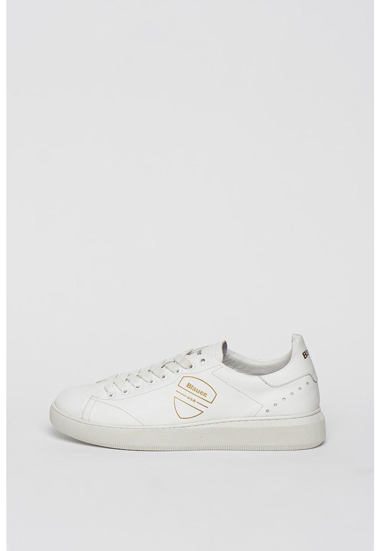 Pantofi sport de piele cu model logo Keith