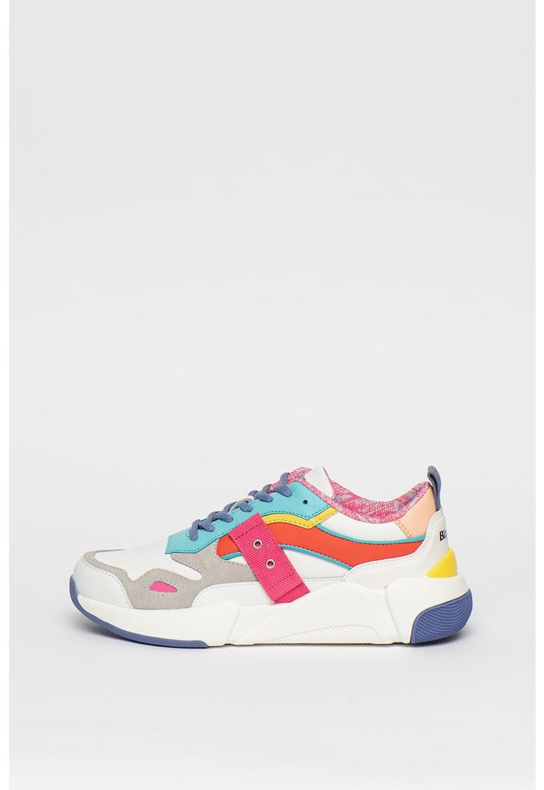 Pantofi sport cu insertii de piele intoarsa Monroe imagine