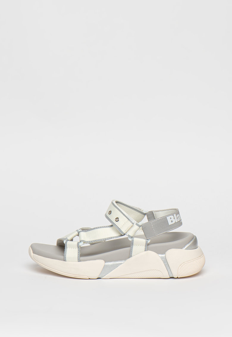 Sandale wedge cu velcro Monroe