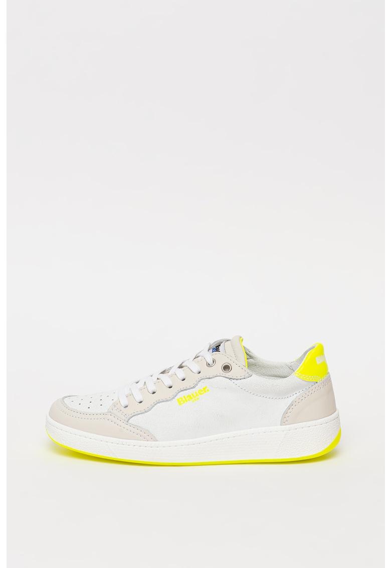 Pantofi sport de piele cu detalii contrastante Olympia imagine