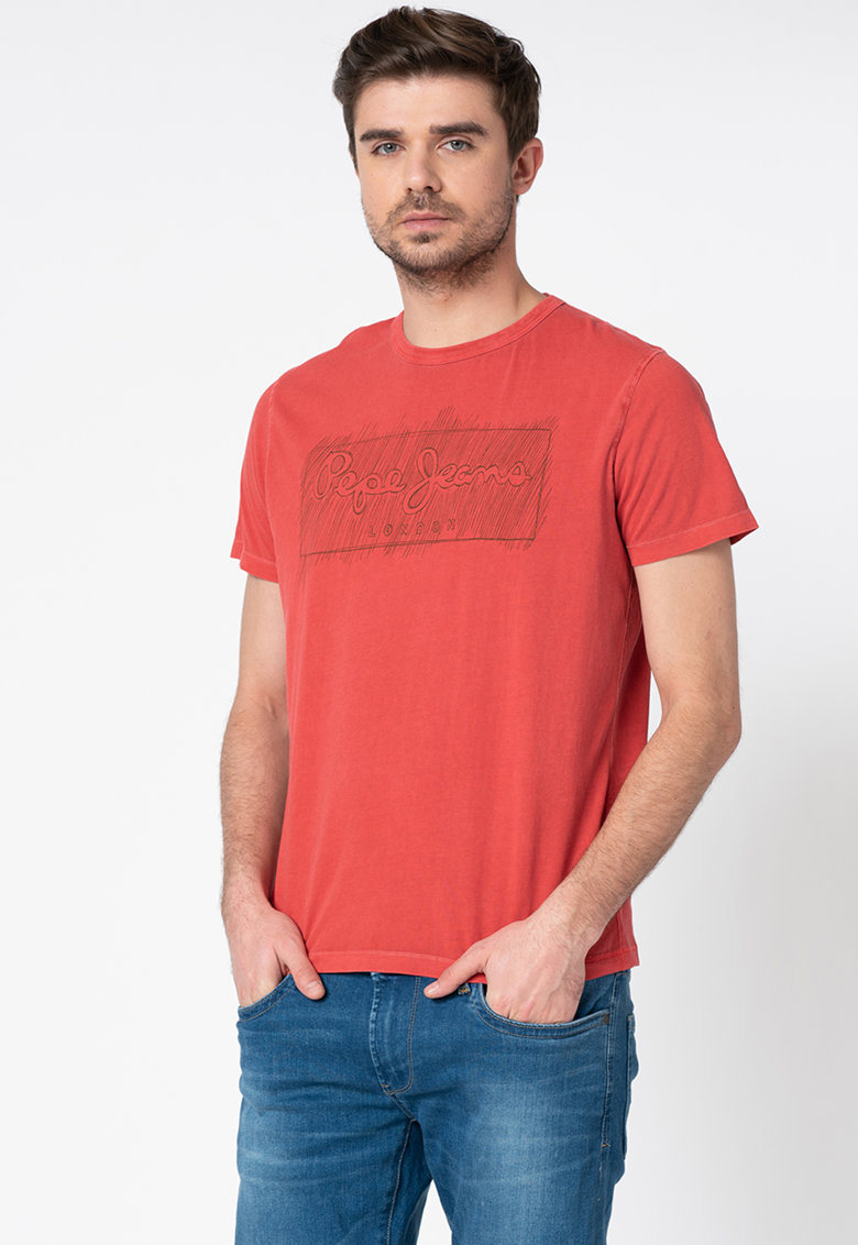 Pepe Jeans London Tricou regular fit cu imprimeu logo Billy