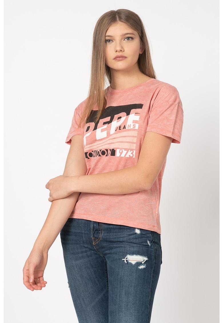 Pepe Jeans London Tricou cu imprimeu logo Cameo