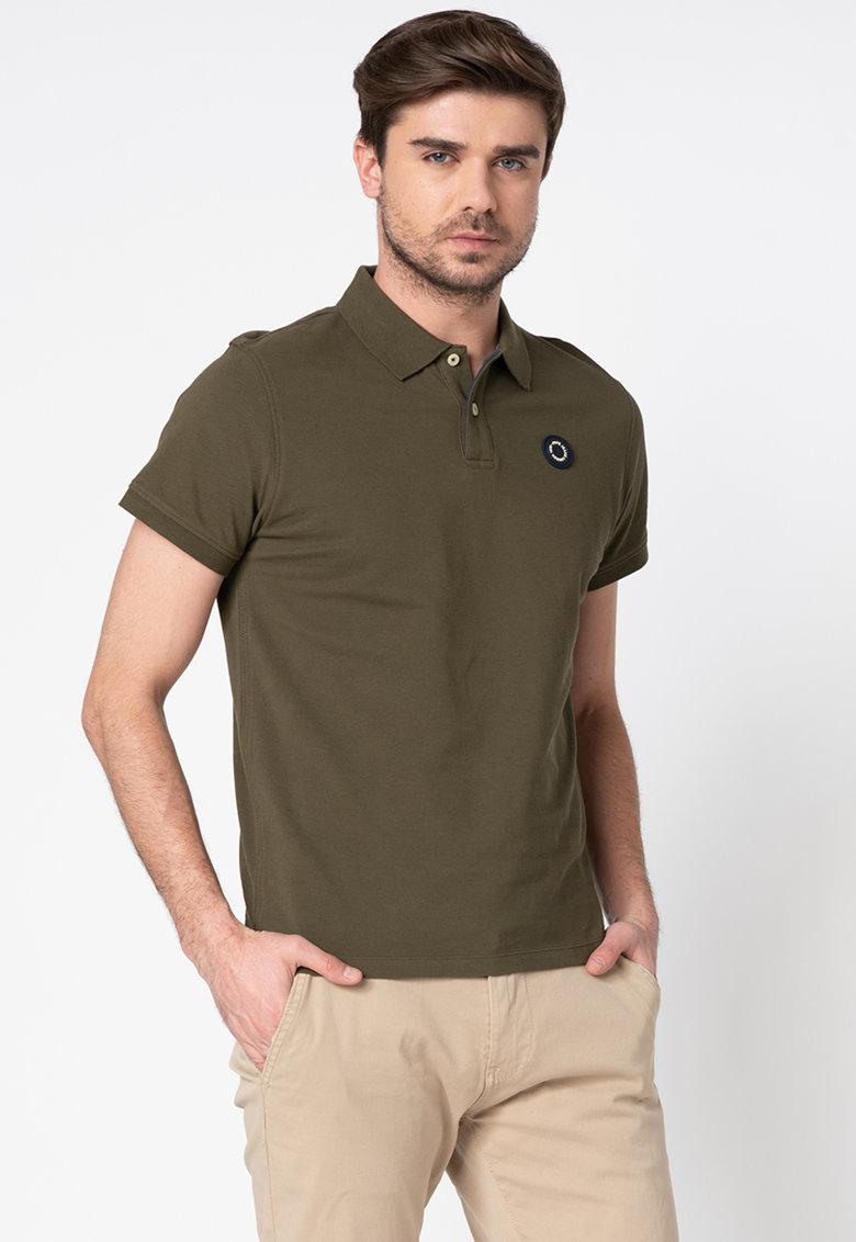 Pepe Jeans London Tricou polo slim fit din pique Cranford