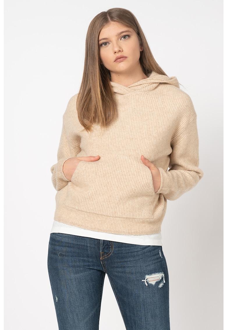 Pulover din amestec de lana cu gluga Yena