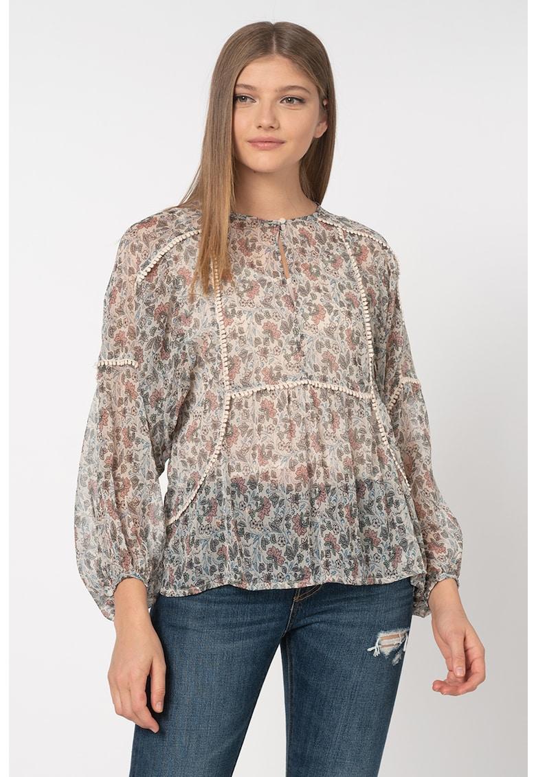 Bluza lejera cu imprimeu floral Loren