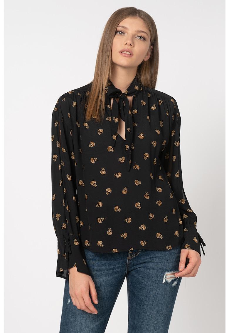 Bluza vaporoasa cu imprimeu floral Gigi