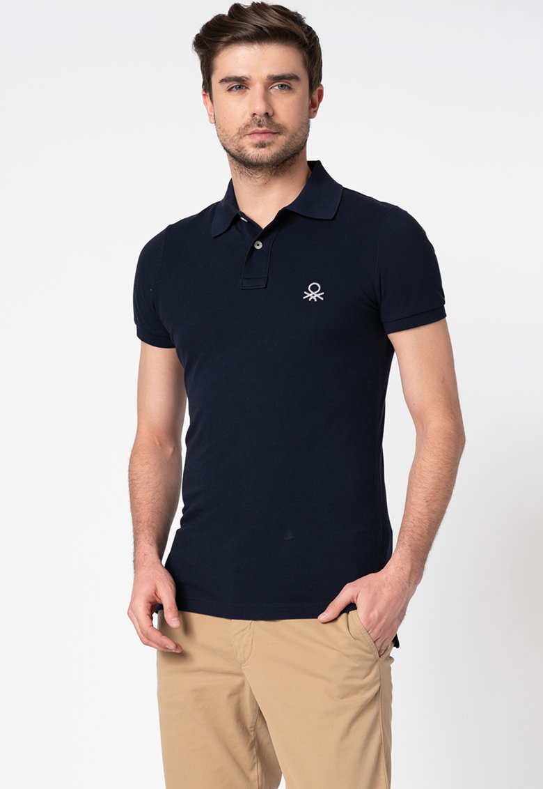 United Colors of Benetton Tricou polo slim fit din bumbac