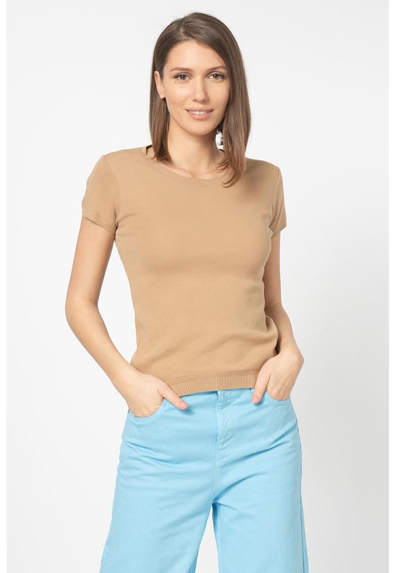United Colors of Benetton Tricou tricotat cu detalii striate