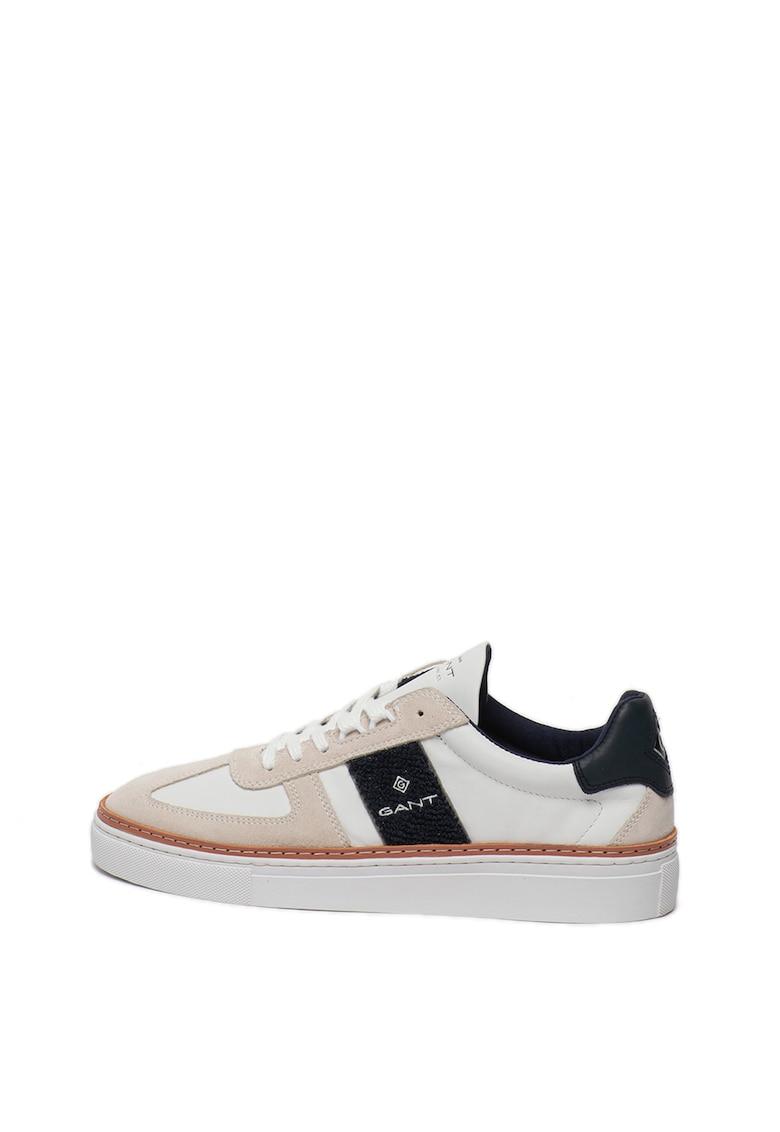 Pantofi sport de piele - cu garnituri de piele intoarsa McJulien