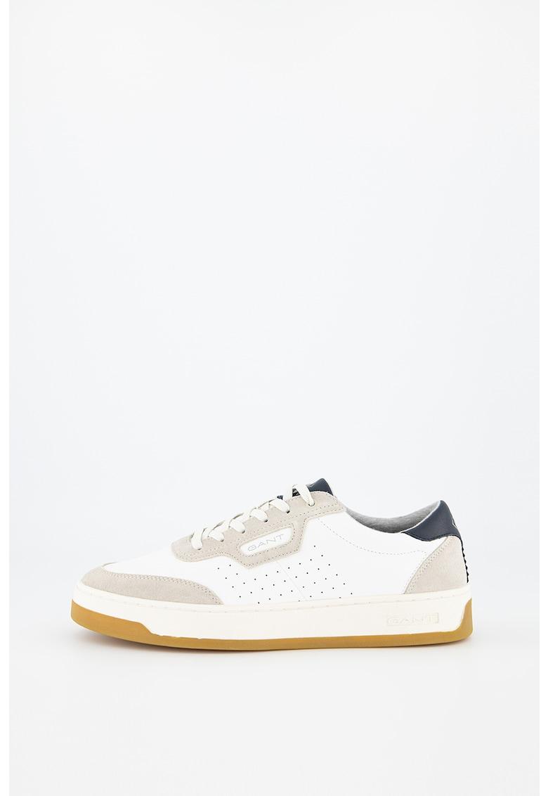 Pantofi sport de piele cu garnituri de piele intoarsa Le Brook