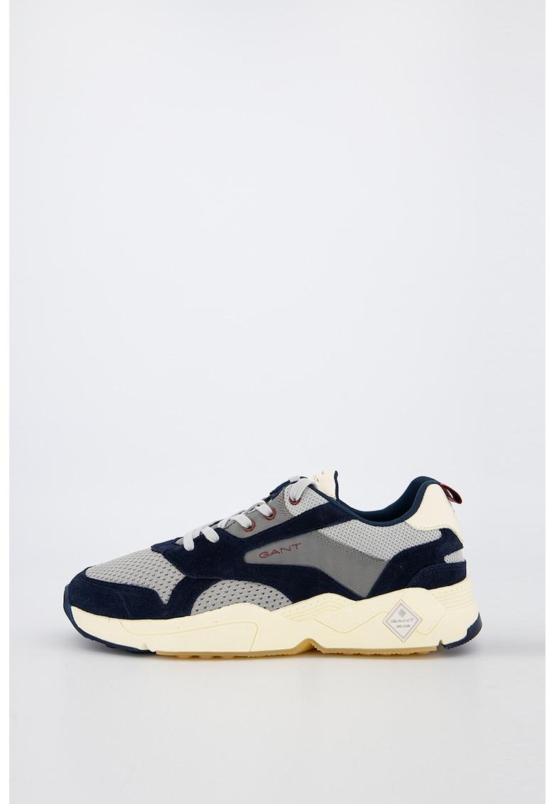 Pantofi sport cu insertii de piele intoarsa Nicewill 1