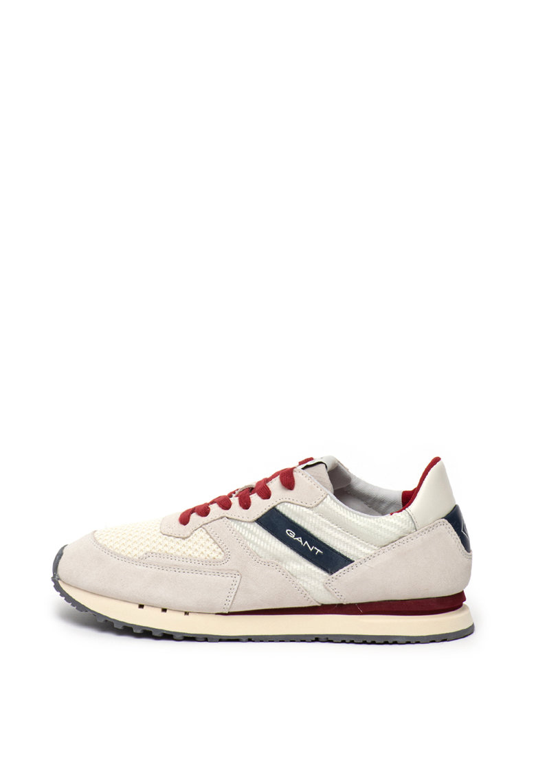 Pantofi sport de piele intoarsa si plasa tricotata Grancliff