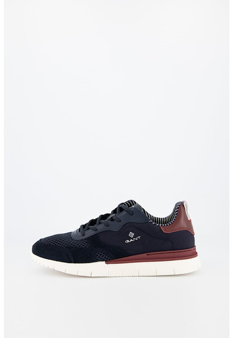 Pantofi sport din plasa cu insertii din piele si piele intoarsa Mc Park