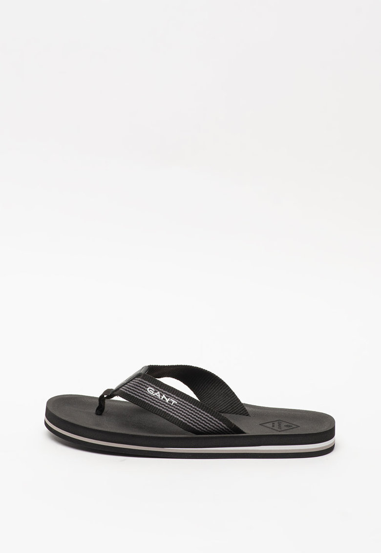 Papuci flip-flop de piele - cu logo Palmworld imagine