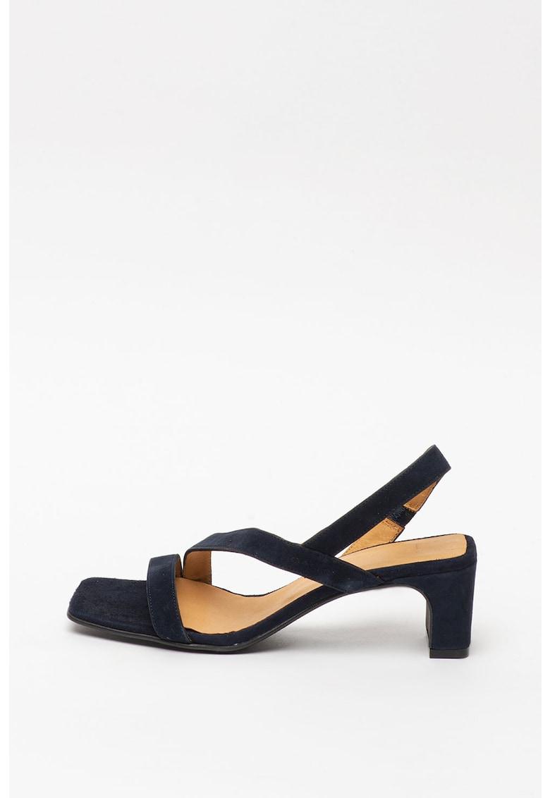 Sandale de piele intoarsa - cu barete multiple Alabasta