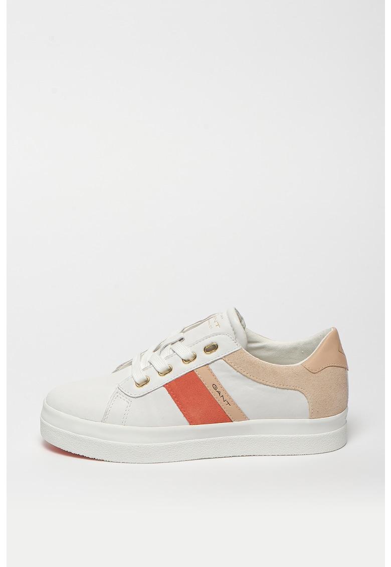 Pantofi sport de piele cu garnituri contrastante de piele intoarsa Avona