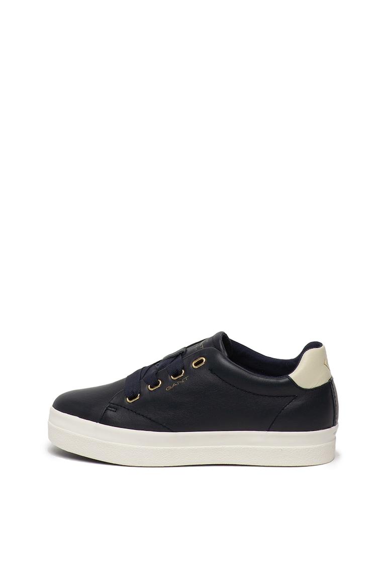 Pantofi sport de piele - cu imprimeu logo discret Avona