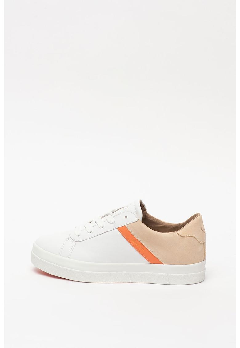 Pantofi sport de piele si piele intoarsa - cu model colorblock Avona