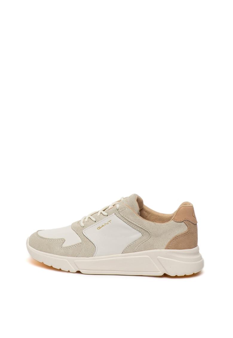 Pantofi sport de piele si piele intoarsa Cocoville