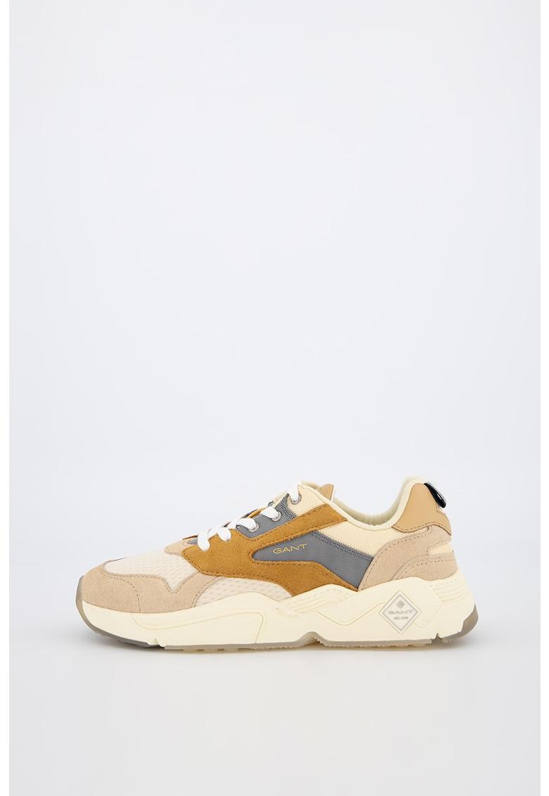 Pantofi sport cu insertii de piele si piele intoarsa Nicewill