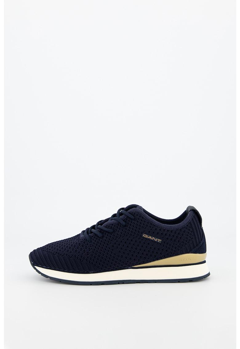 Pantofi sport din tricot cu insertii de piele Bevinda