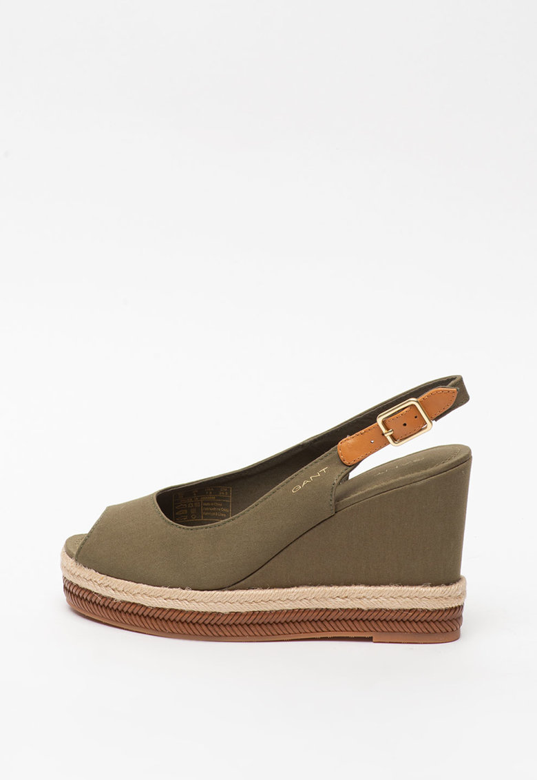 Sandale wedge tip espadrile Ivalice