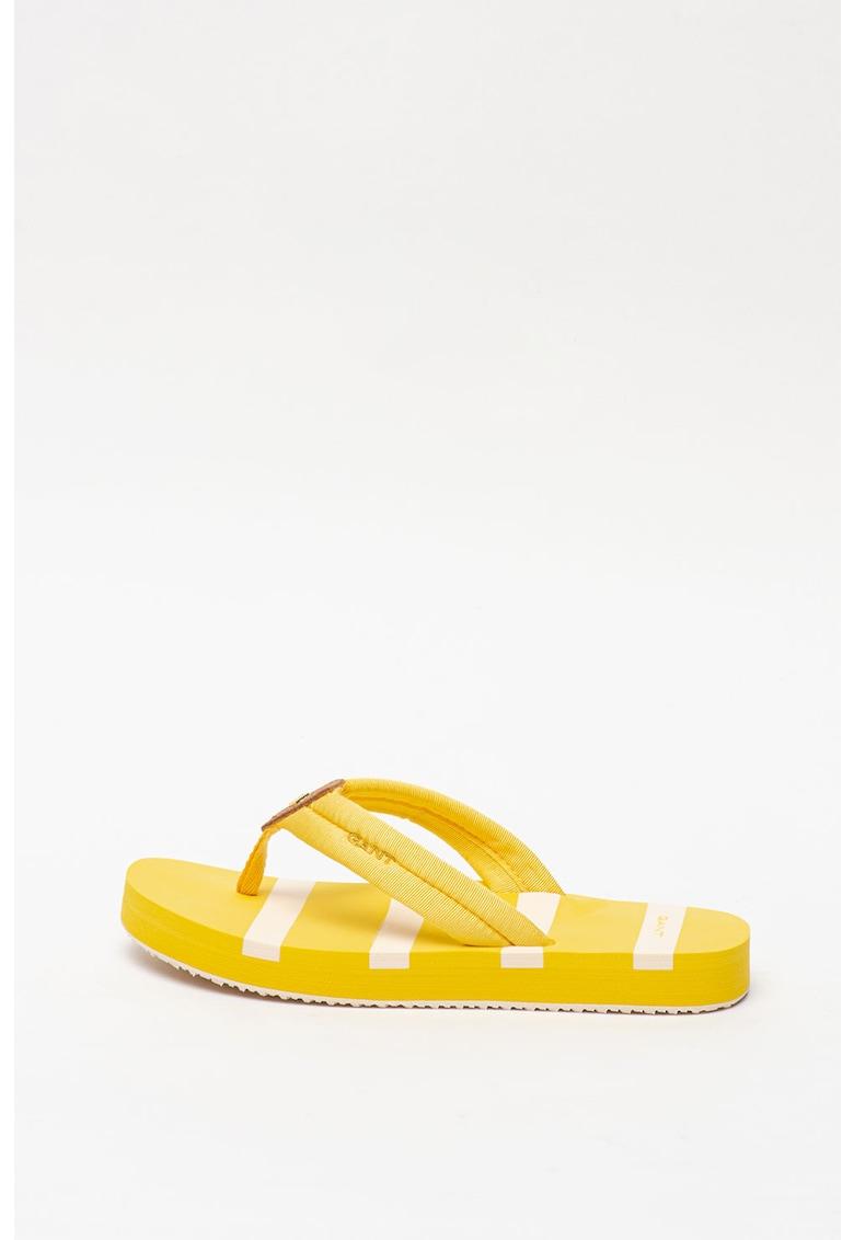 Papuci flip-flop cu logo Lemonbeach