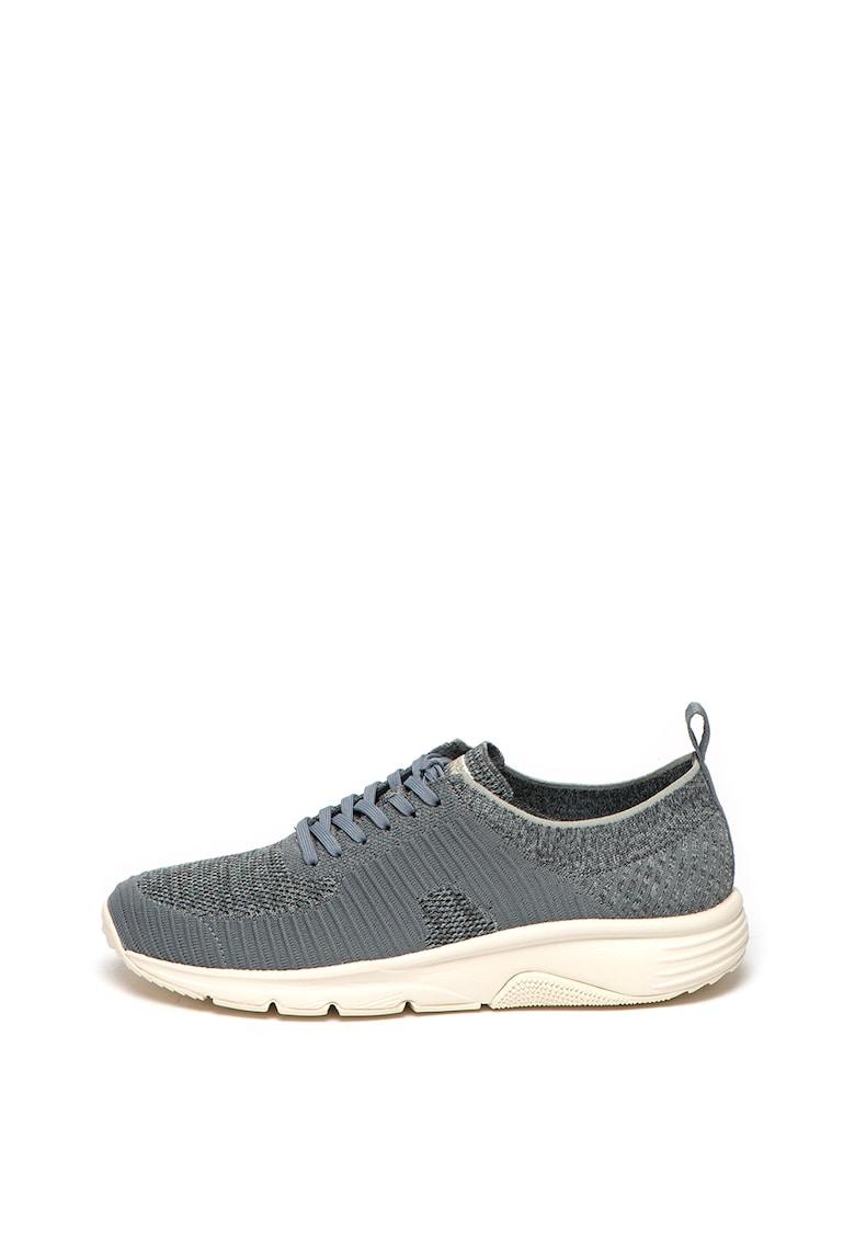 Pantofi sport cu aspect tricotat si detalii striate Drift