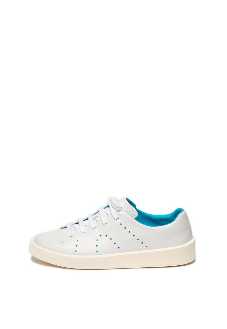 Pantofi sport de piele cu perforatii Twins imagine