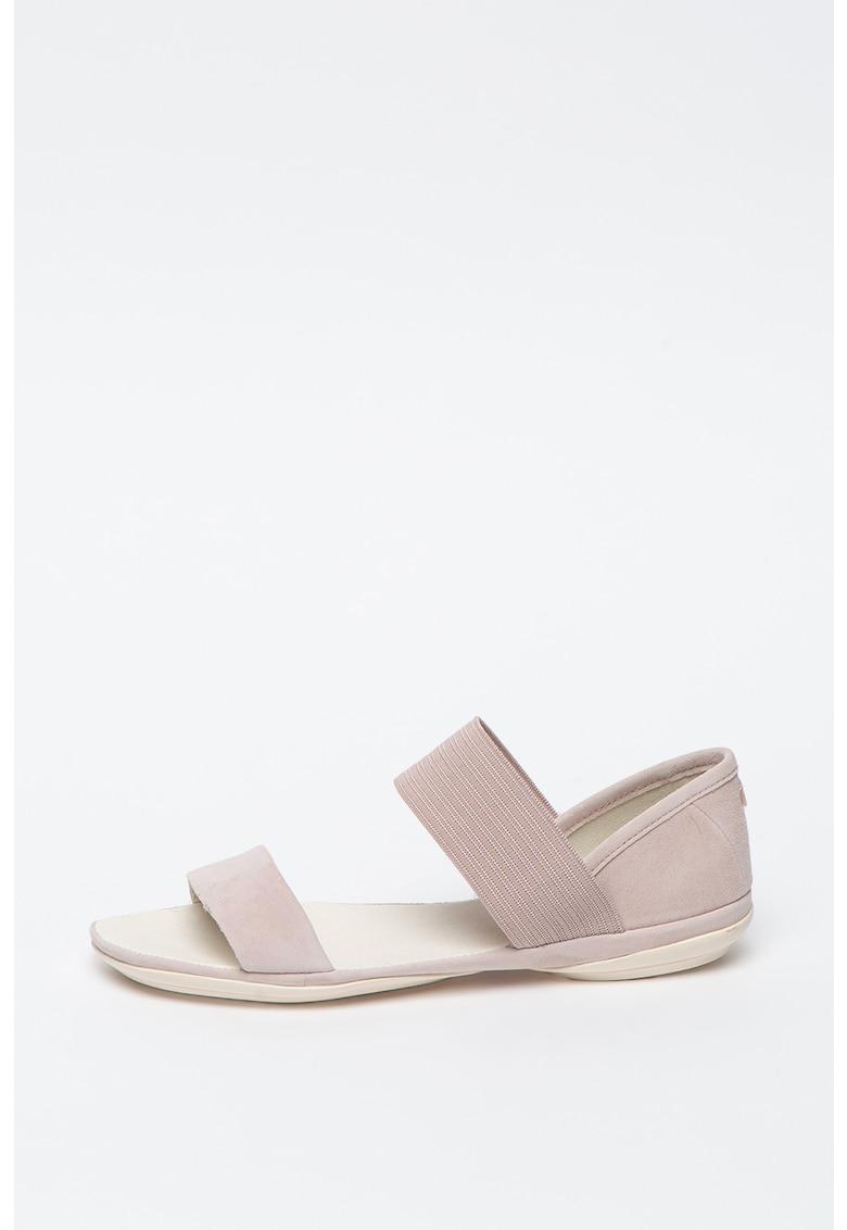 Sandale slip-on din piele intoarsa Right Nina