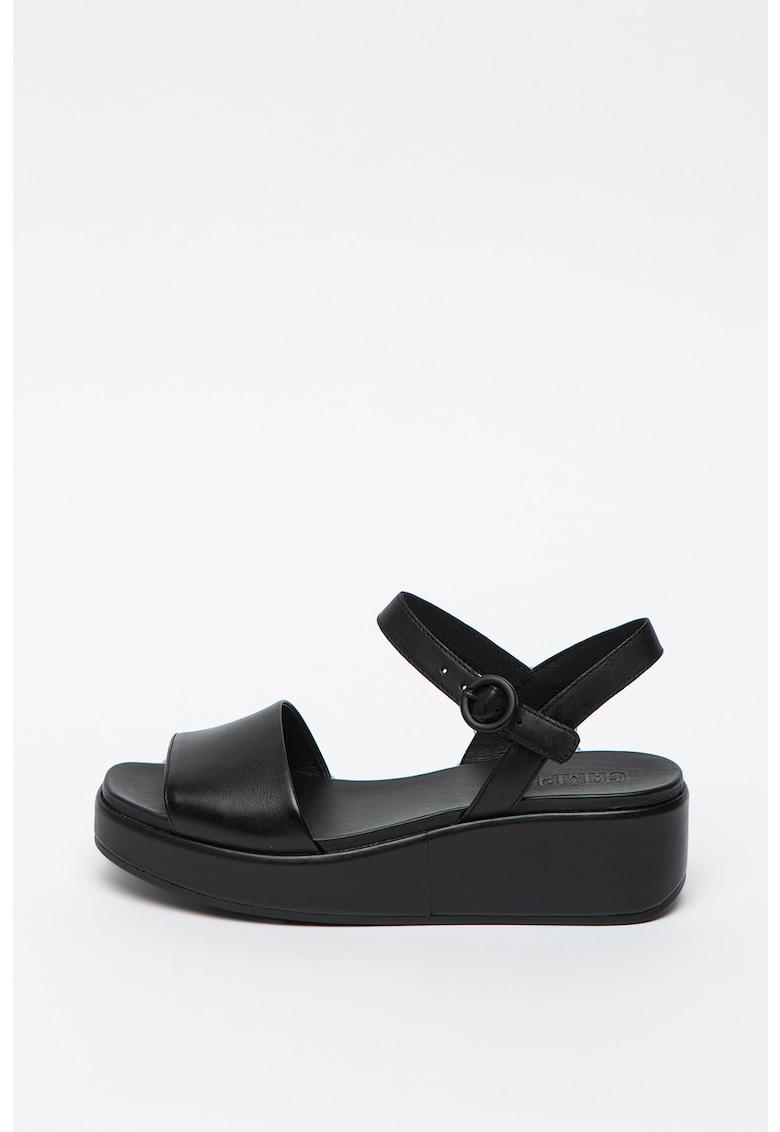 Sandale din piele cu talpa wedge Misia imagine