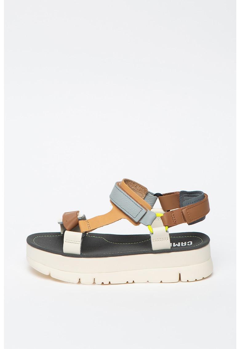 Sandale flatform de piele Oruga Up imagine