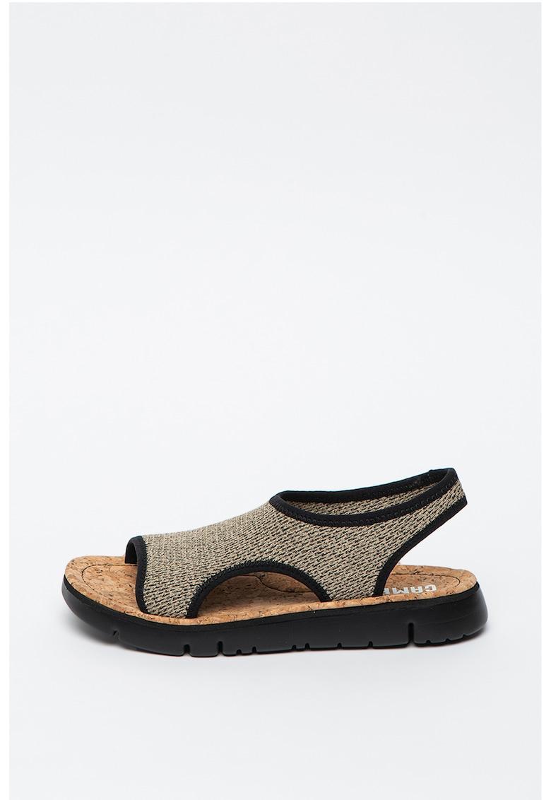 Sandale din plasa cu bareta slingback Oruga