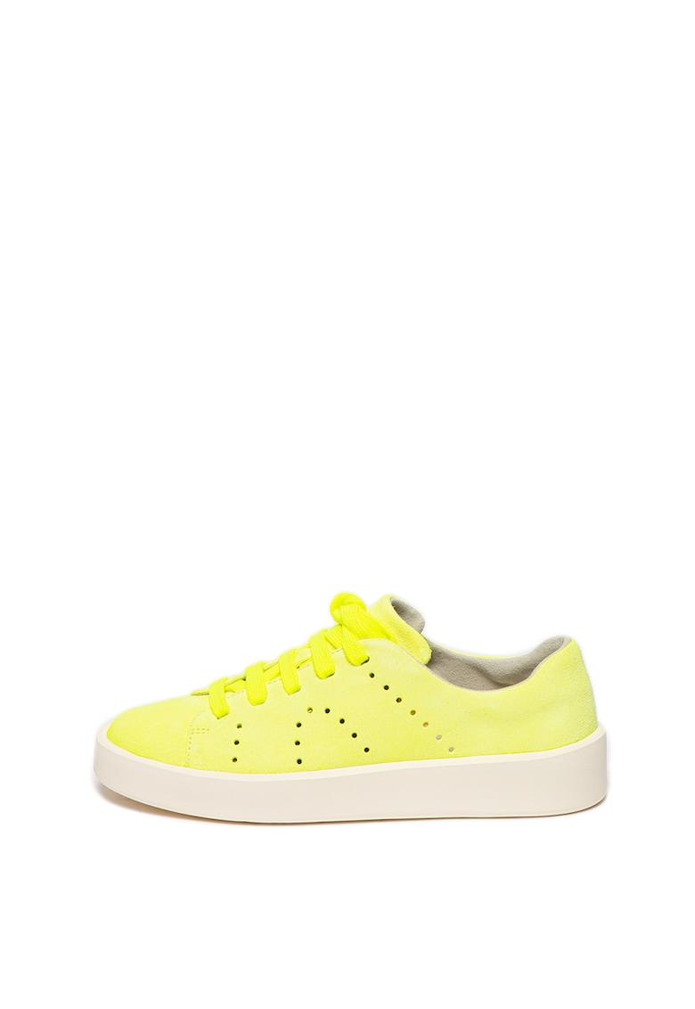 Pantofi sport de piele nabuc Courb