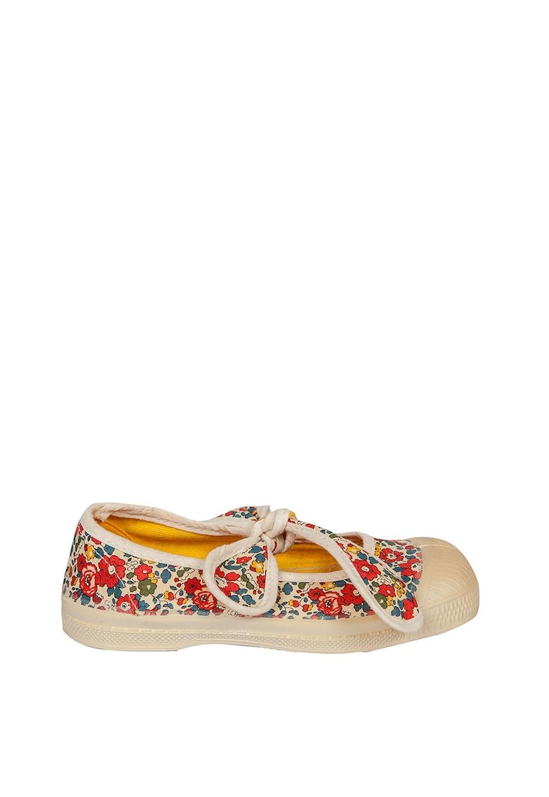 Pantofi Mary Jane cu model floral