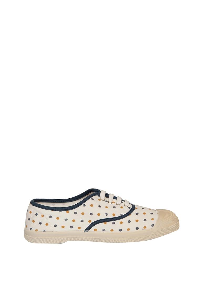 Pantofi sport de piele intoarsa si piele nabuc Block West 3
