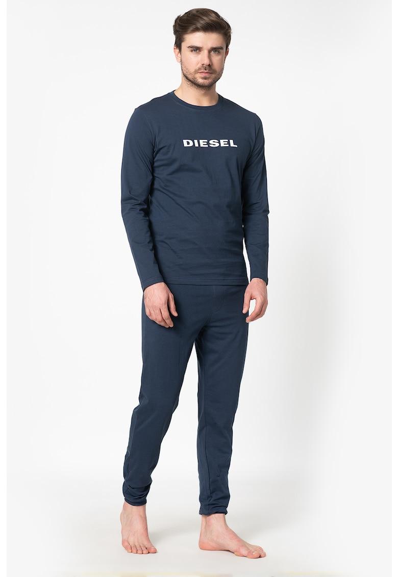 Diesel Pijama din bumbac cu maneci lungi Justin-Julio